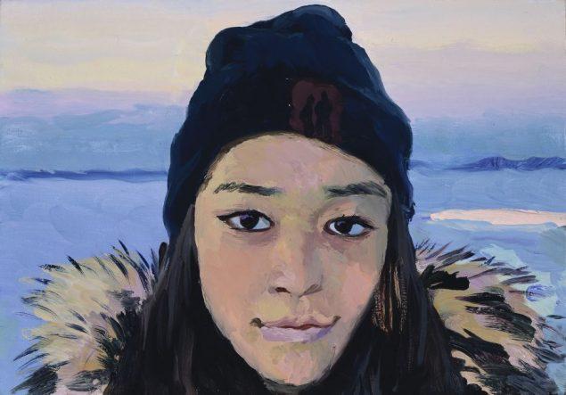 Liu Xiaodong Miannguaq, 2017 Olie på lærred, 23 x 33 cm. I kunstnerens eje © Xiaodong Studio, courtesy Faurschou Foundation.