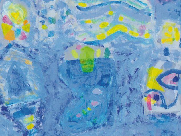 Anker Mortensen, udsnit af Vinden blæser, hvorhen den vil, maleri, 2003-07. Pressefoto.