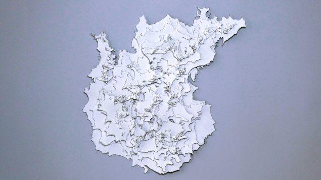 Iben Toft Nørgård, White, 2019, papir, 95 x 124 cm. Pressefoto