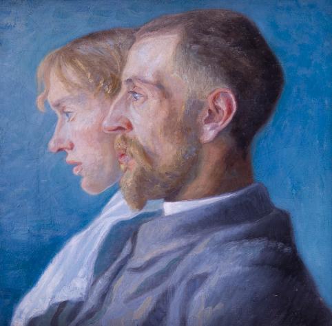 Nicolai Lützhøft, <em>Dobbeltportræt af Fritz og Anna</em>, 1893, Faaborg Museum. Pressefoto.