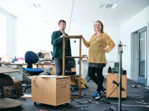 Sandra Boss og Jonas Olesen i forbindelse med Struer Tracks