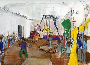 Kunstteater – Alle i Husene