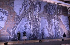 Kirkebys scenetæpper til Svanesøen – anden akt